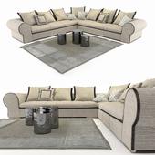 Longhi Modular Gold sofa