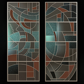 Stained glass in avant-garde style