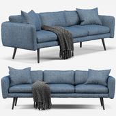 Modani Kelvin Blue 3 Seater Sofa
