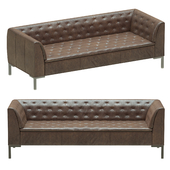 Crate and Barrel Grafton Leather Chesterfield Sofa
