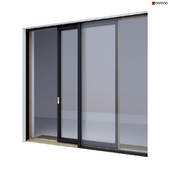 Wood-aluminum sliding stained-glass windows 4