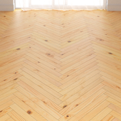 Classic pine parquet in two layouts