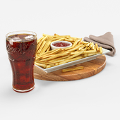 Cola with French fries