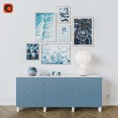 Blue decorative set