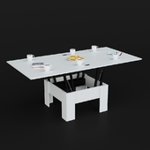 Hoff transformer table with decor