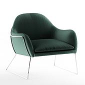 Frame Armchair, Grass Cotton Velvet