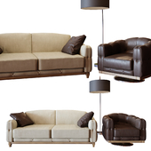 Italian upholstered furniture Musa factory GOLD CONFORT