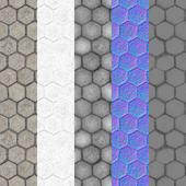 Tiled hex stone floors 2