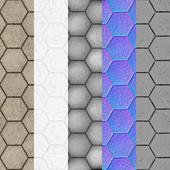 Tiled hex stone floors 3