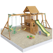 Saratoga Wooden Swing Set