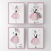 Posters for children fairy girls