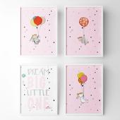 Posters for children's room - rabbit