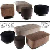Minnoti Jacques Poufs In Fabric