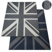 Union Jack Braided Wool Rug RH