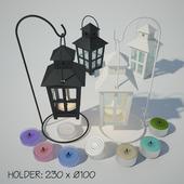 Tealight Lantern + Stand | Vintage lamp post