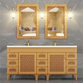 Wash Basin Cupboard two sink