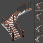Set of stairs with 4 style