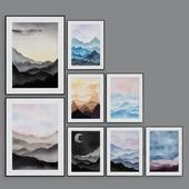 Fine Art Prints Contemporary art Watercolor Mountains