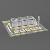 Concrete-mixing factory