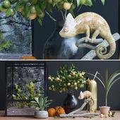 Декоративный набор, хамелеон