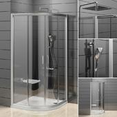 Semi-circular shower Ravak Rapier