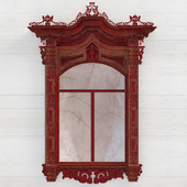 WOODEN CARVED WINDOW