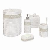 Wave Mosaic White Bath Accessories