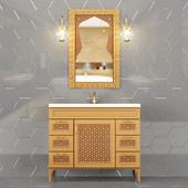 Wash basin cupboard one sink