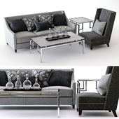 Bernhardt Palisades Sofa and Driscoll Chair