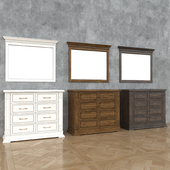 Verdi's chest of drawers, Verdi Lux2 mirror, Belfan