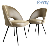 Lexmod Cordelia Dining Side Chair In Leather