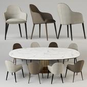 Chairs Giorgetti Selene. Table Giorgetti Mizar