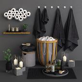 Bamboo & Concrete Bathroom Set