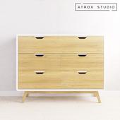 Chest of drawers in Scandinavian style Atrox Studio OM