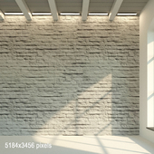 Brick wall. The old painted brick is white. 19