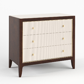 Bedside cabinet Lily White Caracole