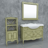 A set of furniture in the bathroom from the Ladygin factory