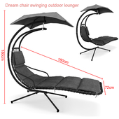 Dream chair swinging outdoor lounger