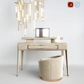 Dressing table ULIVI MADISON, Puffi Loren SMANIA and pendant lamp lindsey adelman