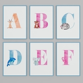 "Selection of pictures ""Letters"""