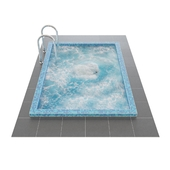 Swimming pool with hydromassage