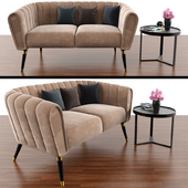 Oreas Sofa With Made Aula Coffee Table