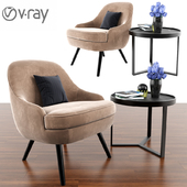 375 Walter Knoll Arm Chair With Aula Coffee Table & Parquet