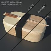 Bento box | Cat Onigiri | Chamfer Edge