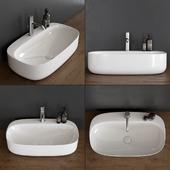 Washbasin Scarabeo Ceramiche Moon 5505