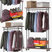 Industrial Clothes Rail Rack
