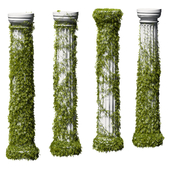 Leaves on a Doric column. 4 models