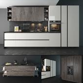 "Kitchen set ""Arredo3 Linea Plana""."
