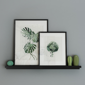 Decorative set with pictures