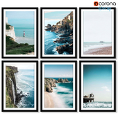 A series of posters with marine attractions.